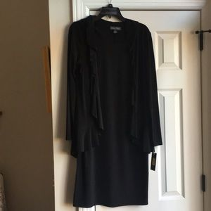 Jessica Howard black dress with attached jacket